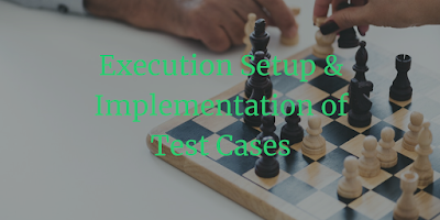 Execution Setup & Implementation of Test Cases