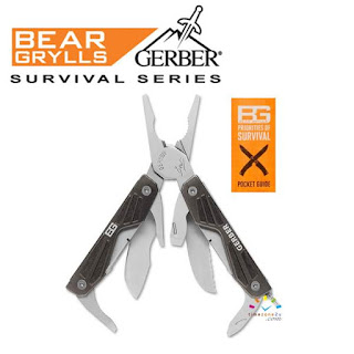 GERBER Bear Grylls Compact 10-In-1 Pocket Multi-Tool (#31-000750)
