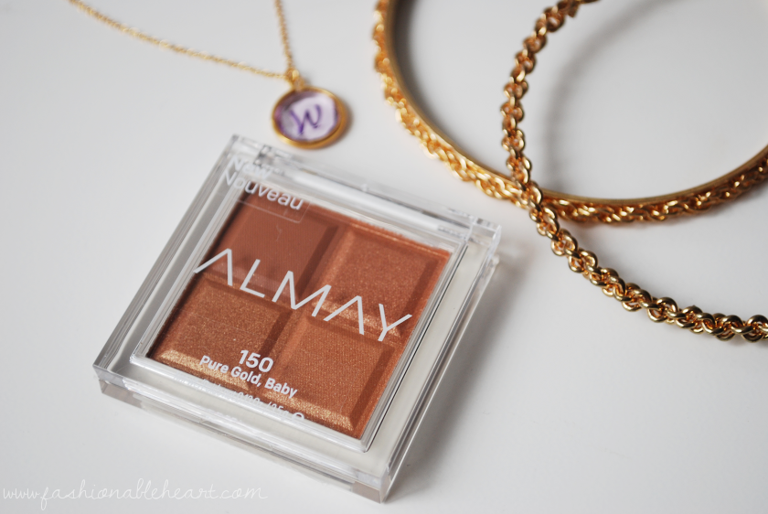 bbloggers, bbloggerca, almay, glamsense, topbox, canada blog, beauty blog, shadow squad, eyeshadow, quad, pure gold baby, swatches, ingredients, review, gold, monochromatic, eyeshadow, matte, shimmer, glitter, metallic, satin