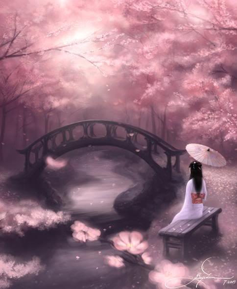 Musings Of Hanme Japanese Classic Poem From The Ogura Hyakunin Isshu In The Peaceful Light By Ki No Tomonori