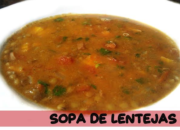 La cocinera novata_Sopa de lentejas receta plato legumbres vinagre balsámico pure guiso