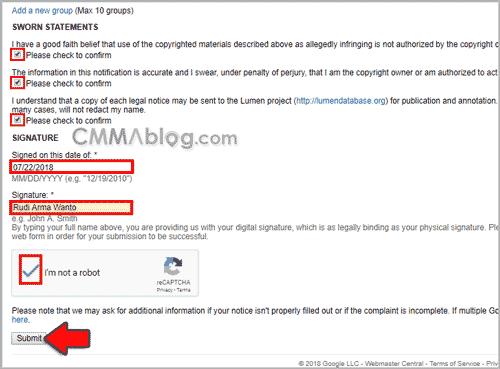 Pengalaman Melaporkan Blog Copas Artikel ke Google DMCA