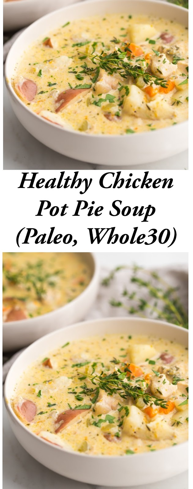 Instant Pot Healthy Chicken Pot Pie Soup