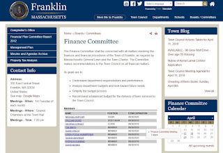 Franklin, MA: Finance Committee - FY 2019 Budget Hearing #3 - April 24, 2018