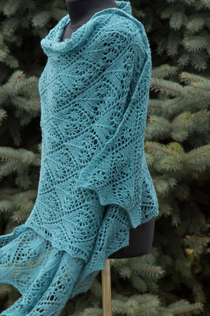 hand knitted shawl lace