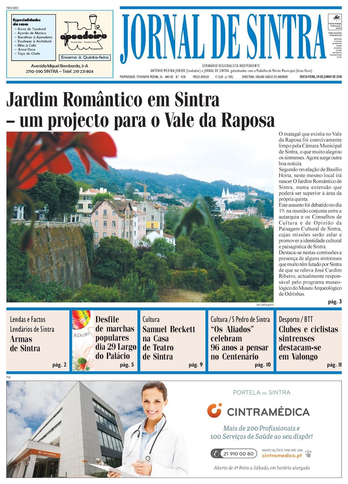 Capa da edição de 29-06-2018