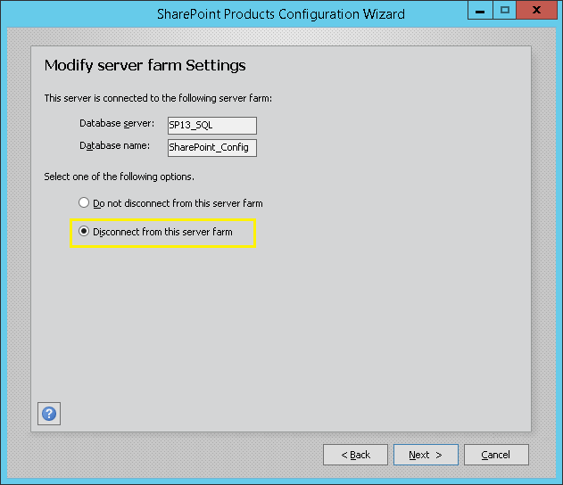 how to remove a server from sharepoint farm