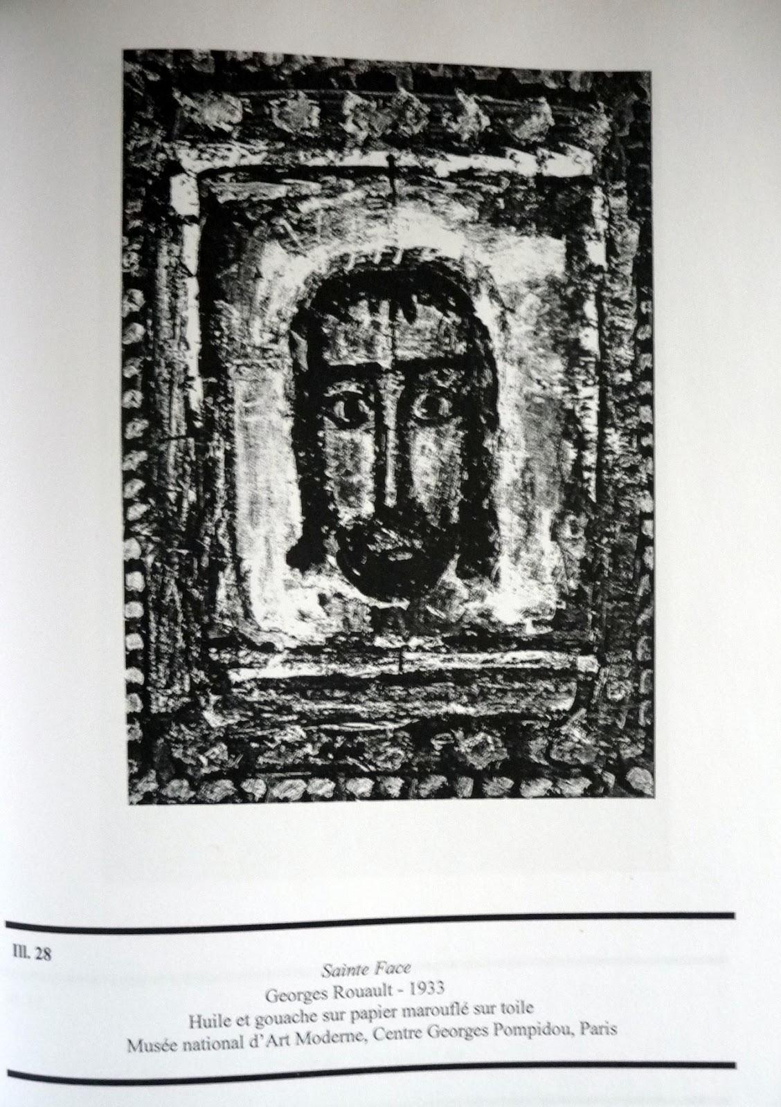 La face est allongée, cernée de puissants traits noirs qui sont aussi les  représentations des yeux, des cheveux, de la barbe et ... fd0f135f237