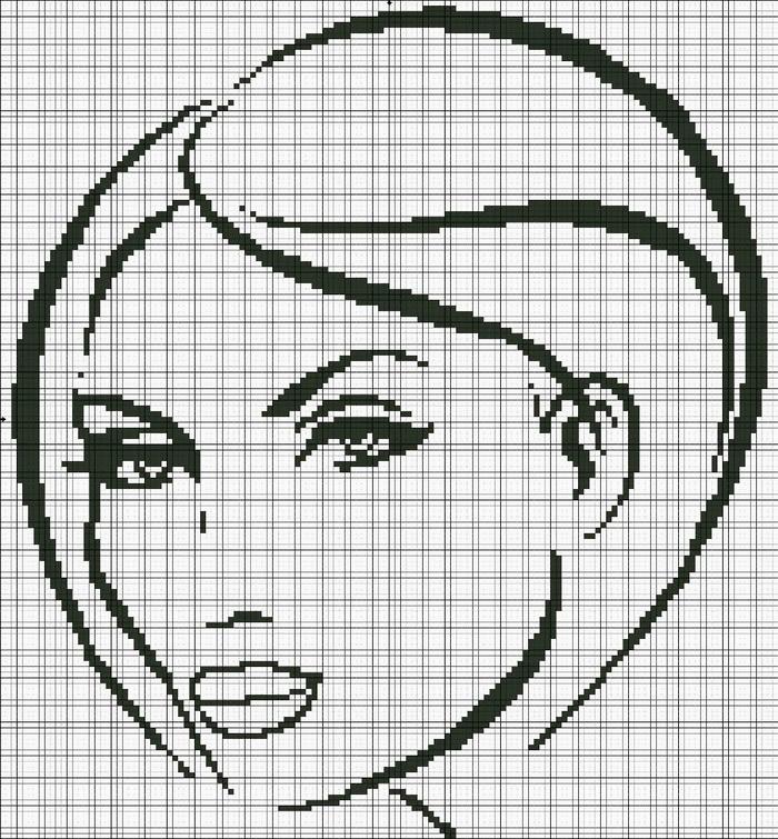 Вышивка крестиком - женские образы