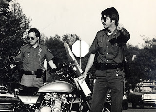 Zacharias as a Richardson motorcycle officer in 1978.