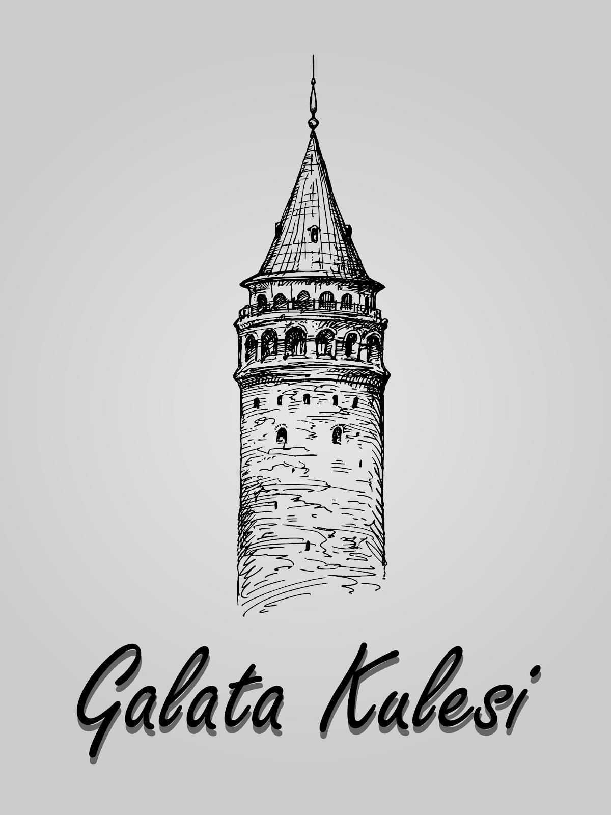 Galata Kulesi Vektörel