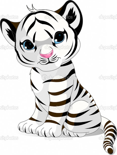 Cartoon Tiger Cub Coloring Pages Tiger Cub Coloring Pages Cute White Tiger  Cub Stock Vector