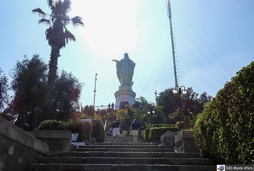 Santuário Imaculada Conceição no Cerro San Cristóbal - o que fazer em Santiago