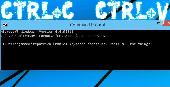 Cara Mengaktifkan CTRL+C dan CTRL+V pada Command Prompt Windows 10