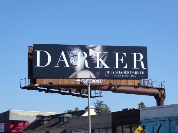 Fifty Shades Darker movie billboard