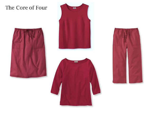 The Core of Four, 4 pieces of clothing in 1 color