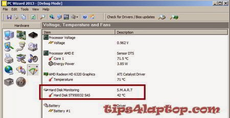 monitoring temperature hardisk dengan pc wizard