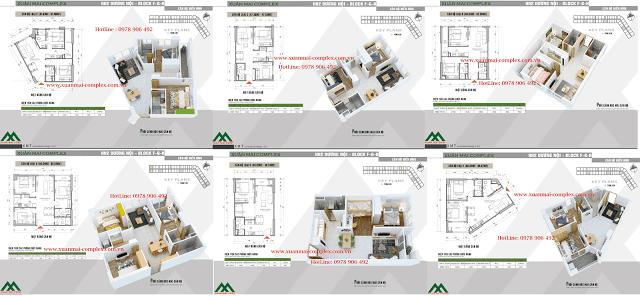 Thiết kế căn hộ Xuân Mai Complex