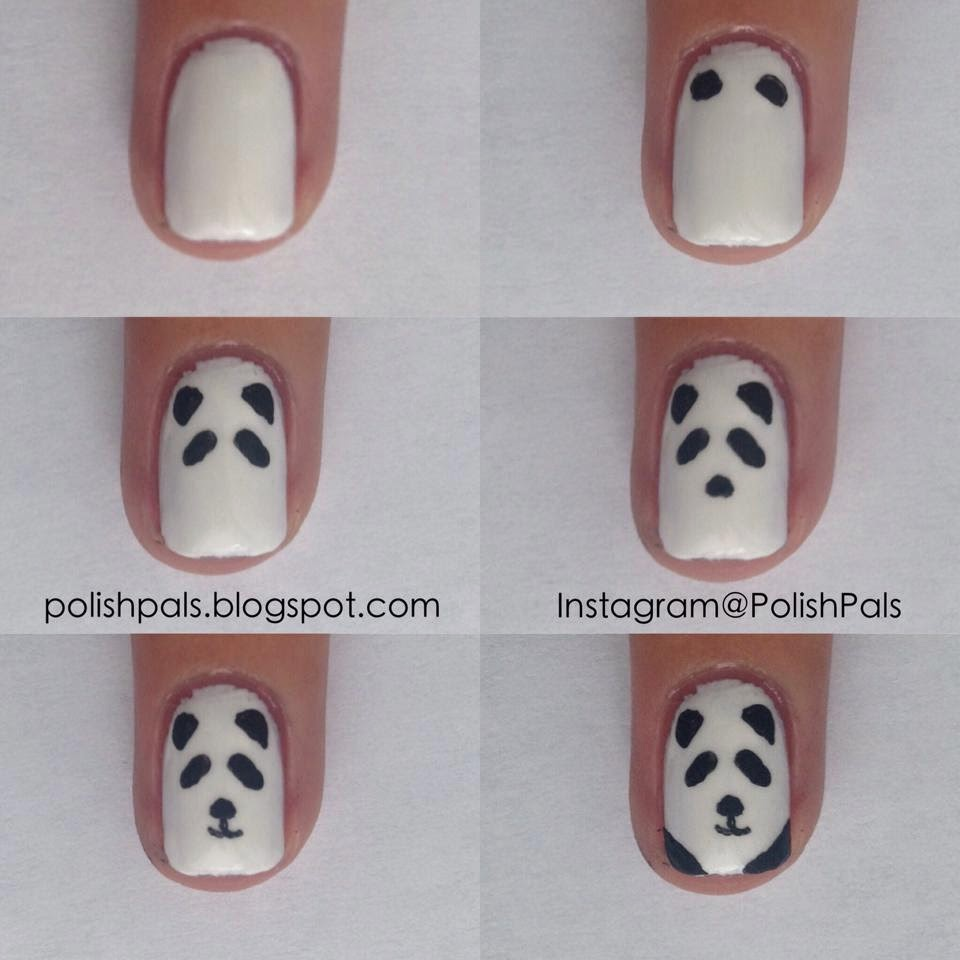 Polish Pals Simplistic Panda Tutorial