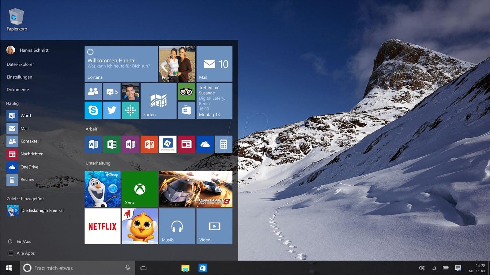 تحميل  Windows10 Pro English نواة 32bit - 64bit أصلية برابط مباشر