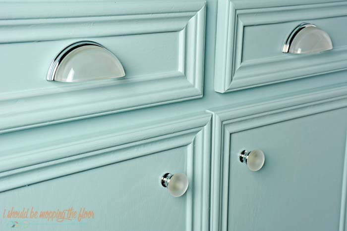 These Glass Cup Pulls And Knobs Have My Whole Heart. We Have White Upper  Cabinets And Light Blue Lowers...and I Think The Hardware Looks Great On  Both ...