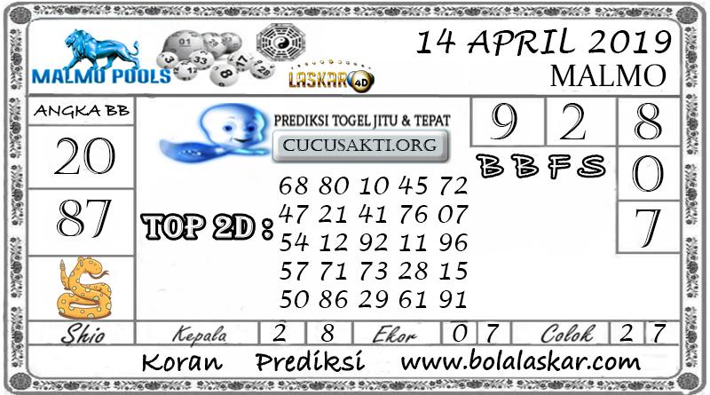 Prediksi Togel MALMO LASKAR4D 14 APRIL 2019