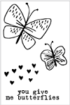 Flora & Fauna Mini You Give Me Butterflies