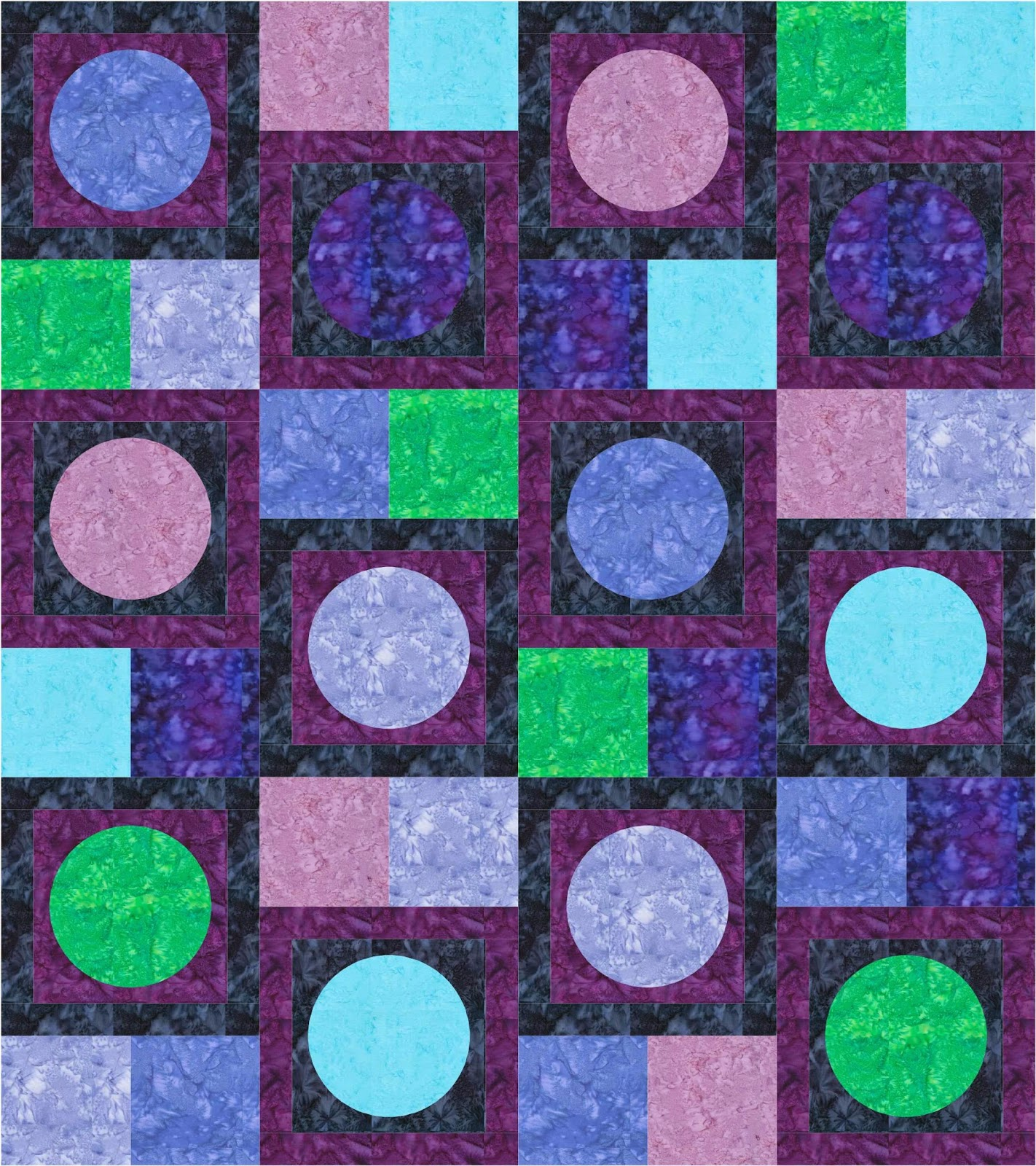 circle quilt | circle applique