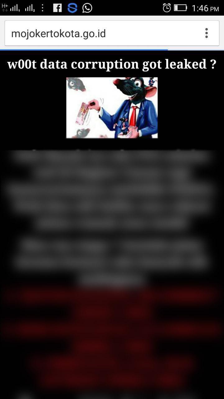 Situs Pemkot Mojokerto Dibobol Hacker Anonymous