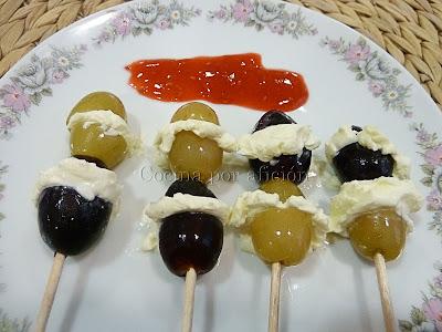 uvas rellenas de mascarpone