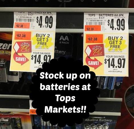 Tops Buy 2 Get 3 Free Batteries Sale