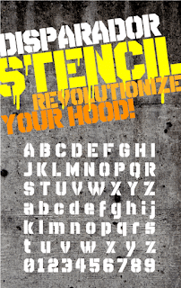 Preview Font Disparador Stencil