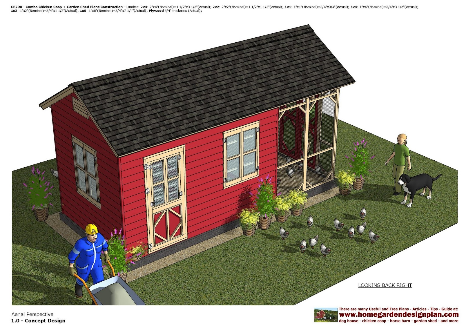 Garden Sheds 2 X 3 home garden plans: cb200 _ combo chicken coop + garden shed plans