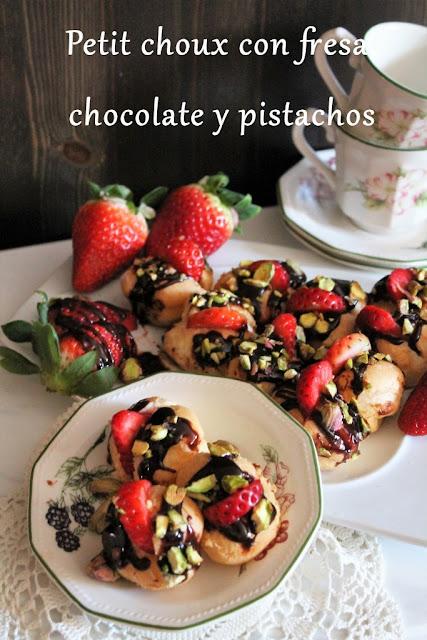 petit-choux-de-fresa-y-pistachos, strawberry-petit-choux