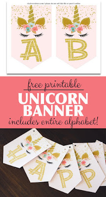 free unicorn party decorations