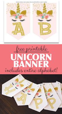 free unicorn party decorations