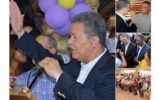 Leonel agradece por gran apoyo en las provincias Peravia, Azua y Barahona