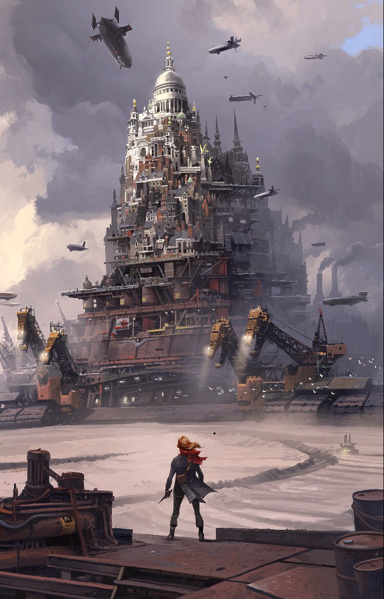 Draft Mortal Engines book cover by Ian McQue