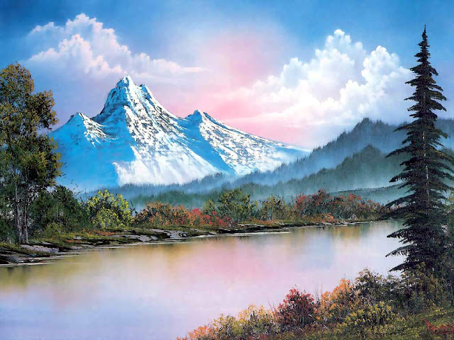 Image result for bob ross winter scenes