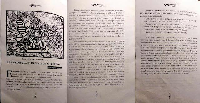 Tres páginas, la historia de La Diosa que nació en el mundo de los vivos