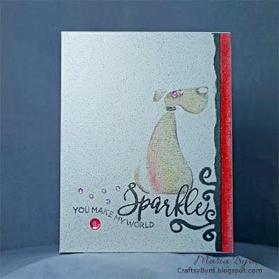 Puppy Sparkle Card by Maria Byrd | CraftsyByrd.blogspot.com