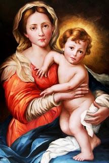 Pintura de la Madre del redentor a color