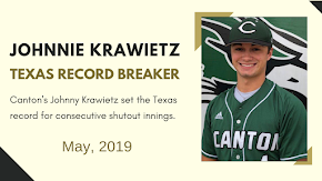 Canton pitcher Johnnie Krawietz rises to the moment and goes down in Texas sports history