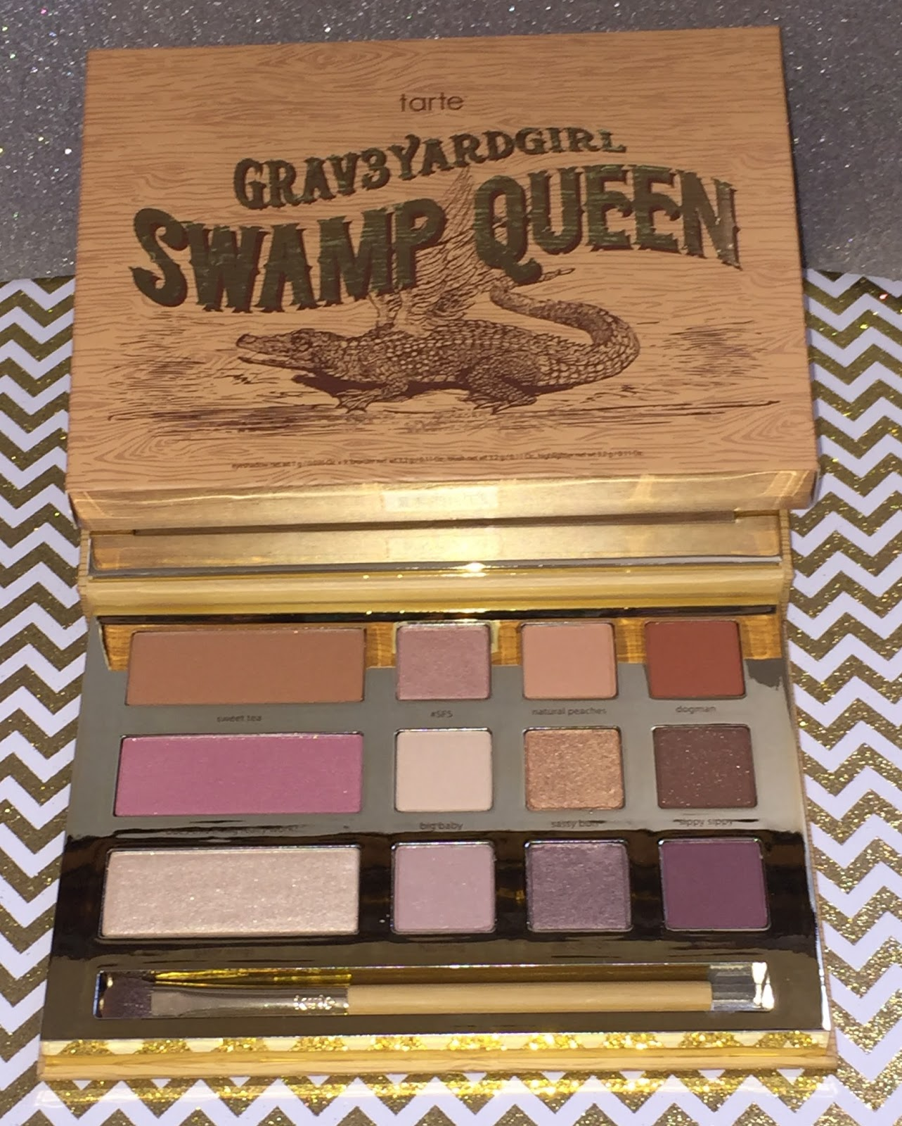 super glam glam tarte grav3yardgirl swamp queen eye cheek palette. Black Bedroom Furniture Sets. Home Design Ideas