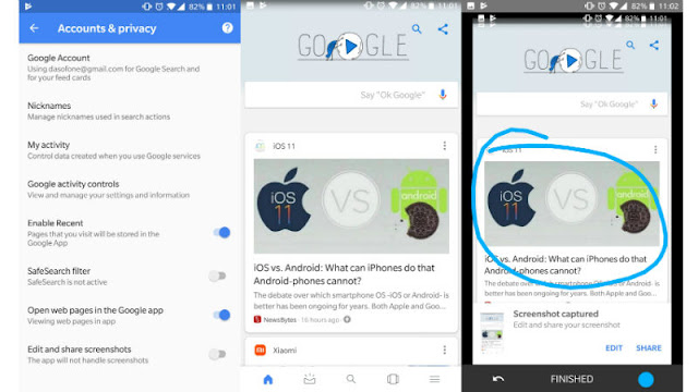 Google App Gets Option to Edit and Share Screenshots in Latest Beta