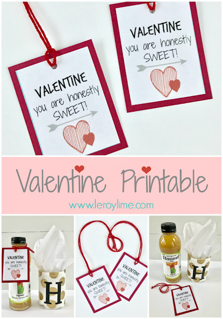 FREE Valentine Printable - You are honestly sweet - www.leroylime.com