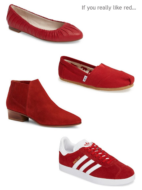 a New York red shoe wardrobe
