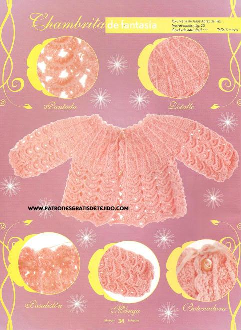 chambrita para niña crochet moldes y patrones