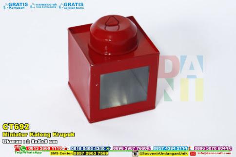 Miniatur Kaleng Krupuk