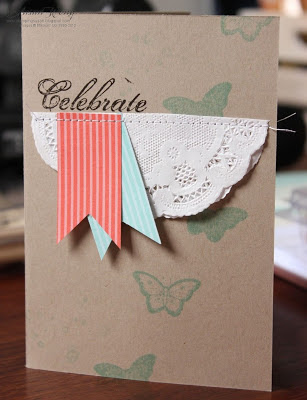 Stampin' Up! Papillon Potpourri Celebrate Card